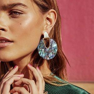 2/$35 🖤 ANTHRO Abalone Shell Gold Hoop Earrings